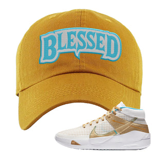 KD 13 EYBL Dad Hat | Blessed Arch, Wheat