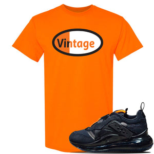 Air Max 720 OBJ Slip Sneaker Safety Orange T Shirt | Tees to match Nike Air Max 720 OBJ Slip Shoes | Vintage Oval