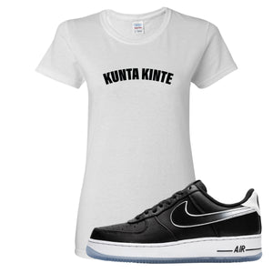 Colin Kaepernick X Air Force 1 Low Kunta Kinte White Sneaker Hook Up Women's T-Shirt