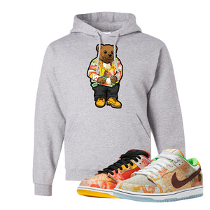 SB Dunk Low Street Hawker Hoodie | Sweater Bear, Ash