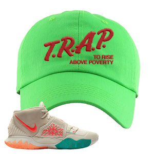 Kyrie 6 N7 Dad Hat | Neon Green, Trap To Rise Above Poverty