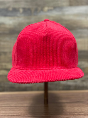 Red Corduroy Snapback | Corduroy Snapback for Embroidery | Foot clan for brand startup