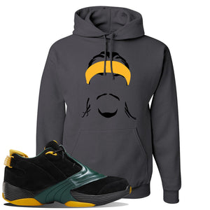 Answer 5 Bethel High Sneaker Charcoal Grey Pullover Hoodie | Hoodie to match Reebok Answer 5 Bethel High Shoes | Headband Cornrows