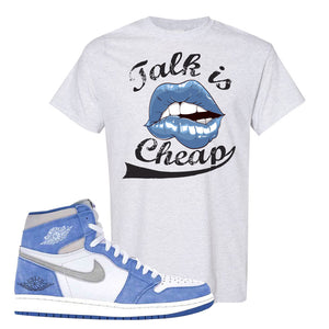 Air Jordan 1 High Hyper Royal T-Shirt | Talk Is Cheap, Ash