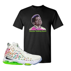 Lebron 17 Air Command Force T Shirt | Black, Watcha Talking Bout