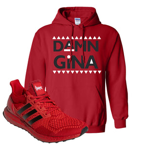Ultra Boost 1.0 Nebraska Hoodie | Damn Gina, Red