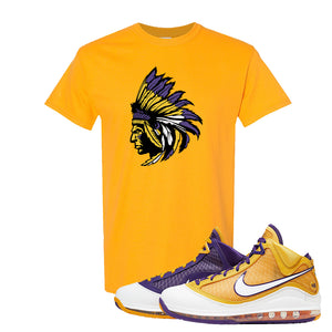 Lebron 7 'Media Day' T Shirt | Gold, Indian Chief