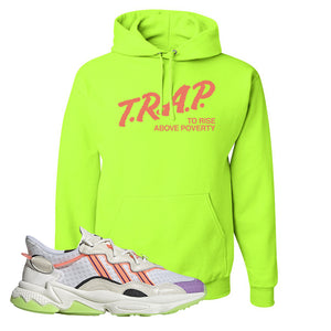 Ozweego Chaos Hoodie | Safety Green, Trap To Rise Above Poverty