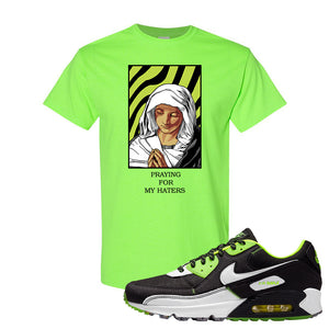 Air Max 90 Exeter Edition Black T Shirt | God Told Me, Neon Green