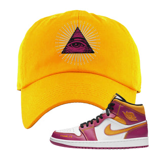 Air Jordan 1 Mid Familia Dad Hat | All Seeing Eye, Gold