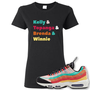 Air Max 95 Black History Month Sneaker Black Women's T Shirt | Women's Tees to match Nike Air Max 95 Black History Month Shoes | Kelly And Gang