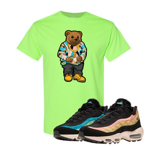 Air Max 95 Sergio Lozano T Shirt | Sweater Bear, Neon Green