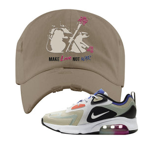 Air Max 200 WMNS Fossil Sneaker Khaki Distressed Dad Hat | Hat to match Nike Air Max 200 WMNS Fossil Shoes | Army Rats