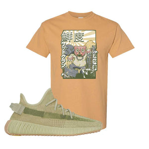 Yeezy 350 v2 Sulfur T Shirt | Old Gold, Attack Of The Bear