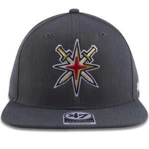 Las Vegas Golden Knights Swordsand Star Gray Adjustable Snapback Hat