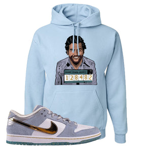 Sean Cliver x SB Dunk Low Hoodie | Escobar Illustration, Light Blue