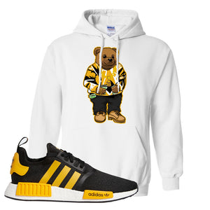 NMD R1 Active Gold Hoodie | White, Sweater Bear