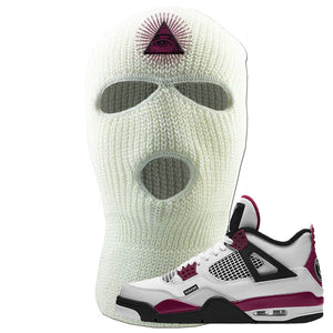 Air Jordan 4 PSG Paname Ski Mask 3 Hole | All Seeing Eye, White
