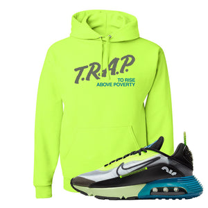 Air Max 2090 Volt Hoodie | Trap To Rise Above Poverty, Saftey Green