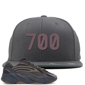 "Yeezy Boost 700 Geode Sneaker Hook Up ""700"" Gray Snapback"