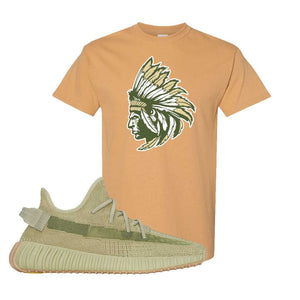 Yeezy 350 v2 Sulfur T Shirt | Old Gold, Indian Chief