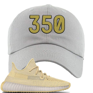 Yeezy Boost 350 V2 Flax Sneaker Light Gray Dad Hat | Hat to match Adidas Yeezy Boost 350 V2 Flax Shoes | 350