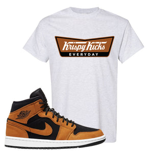 Air Jordan 1 Mid Wheat T Shirt | Krispy Kicks, Ash