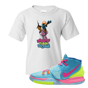 Kyrie 6 Pool Kids T-Shirt | Dont Hate the Player, White