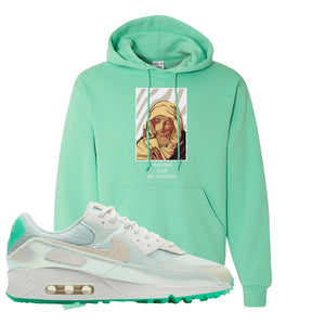 Air Max 90 Sail Pastel Green Hoodie | God Told Me, Cool Mint