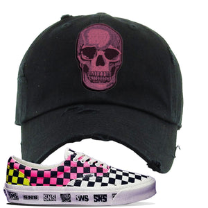 Vans Era Venice Beach Pack Distressed Dad Hat | Black, Skull