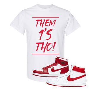 Jordan 1 New Beginnings Pack Sneaker White T Shirt | Tees to match Nike Air Jordan 1 New Beginnings Pack Shoes | Them 1's Tho