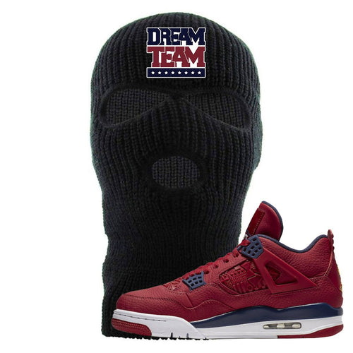 Jordan 4 FIBA Dream Team Black Sneaker Matching Ski Mask