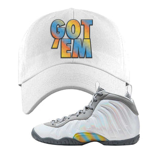 Lil Posite One Rainbow Pixel Dad Hat | White, Got Em
