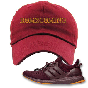 Homecoming Maroon Dad Hat to match Ivy Park X Adidas Ultra Boost Sneaker