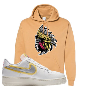 Air Force 1 Low 07 LX White Gold Hoodie | Indian Chief, Old Gold