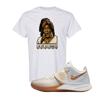 Kyrie Flytrap 3 Summit White T Shirt | Oh My Goodness, Ash
