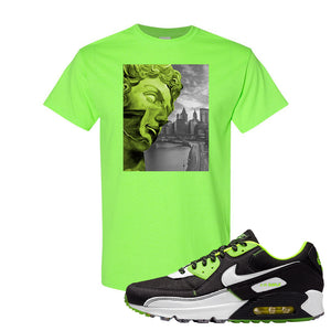 Air Max 90 Exeter Edition Black T Shirt | Miguel, Neon Green