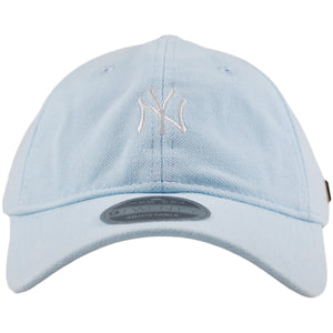 New York Yankees Black Label Micro Stitch Premium Light Blue Adjustable Dad Hat