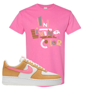Nike Air Force 1 Pink Orange T-Shirt | In Living Color, Azalea
