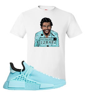 Pharell x NMD Hu Aqua T Shirt | Escobar Illustration, White