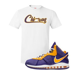 Lebron 8 Lakers T Shirt | Chiraq, White