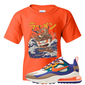 Air Max 270 React ACG Kid's T-Shirt | Orange, Ramen Monster