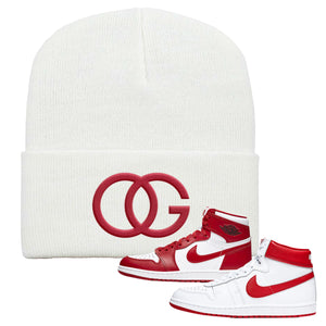 Jordan 1 New Beginnings Pack Sneaker White Beanie | Beanie to match Nike Air Jordan 1 New Beginnings Pack Shoes | OG