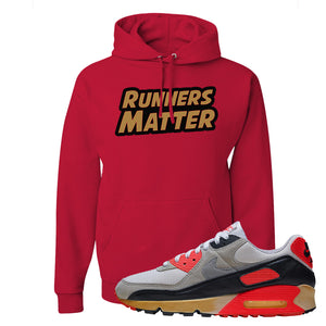 Air Max 90 Infrared Hoodie | Runners Matter, Red