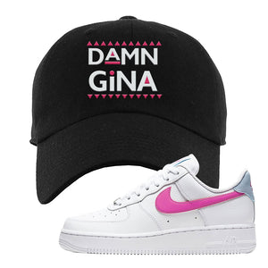 Air Force 1 Low Fire Pink Dad Hat | Black, Damn Gina