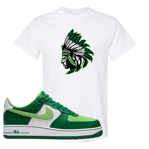 Air Force 1 Low St. Patrick's Day 2021 T Shirt | Indian Chief, White