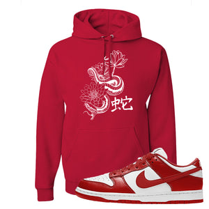 SB Dunk Low St. Johns Hoodie | Snake Lotus, Red