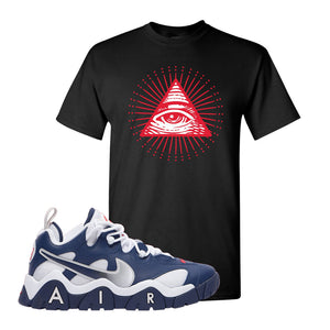 Air Barrage Low USA T Shirt | Black, All Seeing Eye
