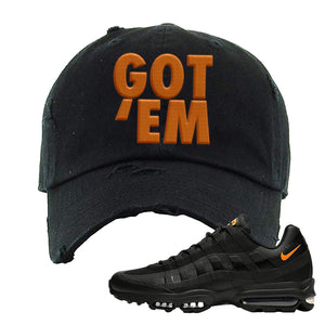 Air Max 95 Ultra Spooky Halloween Distressed Dad Hat | Got Em, Black