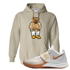 Kyrie Flytrap 3 Summit White Hoodie | Sweater Bear, Sand